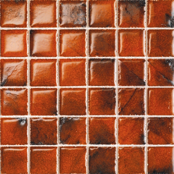 Reef Mosaic Orange 4.8x4.8cm 30x30cm